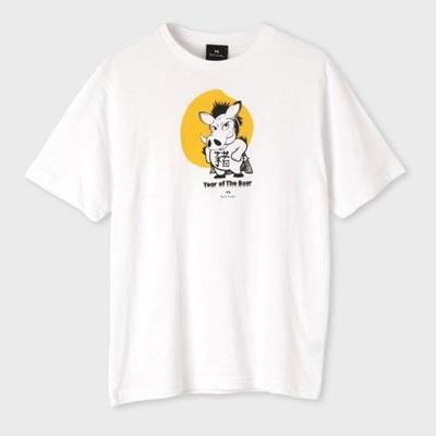 ポールスミス Tシャツ Boar プリント ホワイト XL Paul Smith