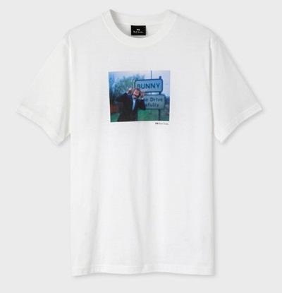 ポールスミス Tシャツ Pauls Bunny フォトプリント ホワイト S Paul Smith