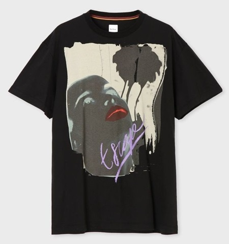 ポールスミス Tシャツ メンズ Paradise プリント ブラック M Paul Smith