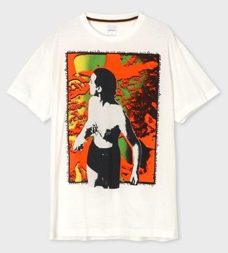 ポールスミス Tシャツ メンズ Tropical Lady プリント ホワイト M Paul Smith