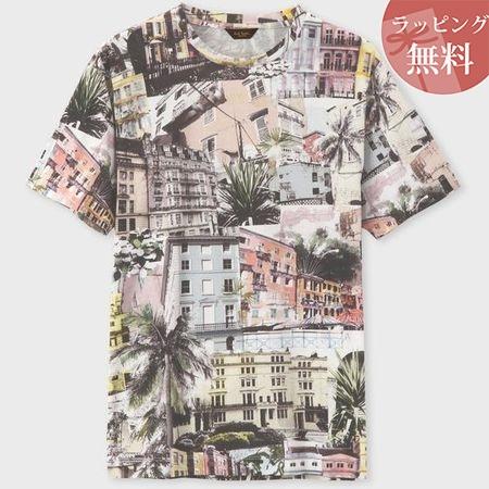 ポールスミス Tシャツ サマーヒルタウンプリント ピンク XL Paul Smith