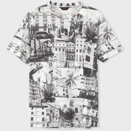 ポールスミス Tシャツ サマーヒルタウンプリント ブラック M Paul Smith