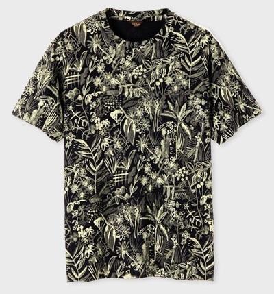 ポールスミス Tシャツ トロピカルスケッチ ブラック XL Paul Smith