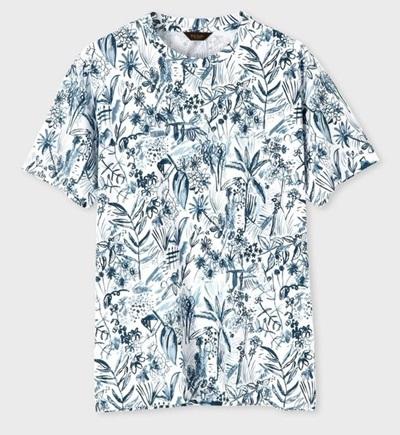 ポールスミス Tシャツ トロピカルスケッチ ホワイト L Paul Smith