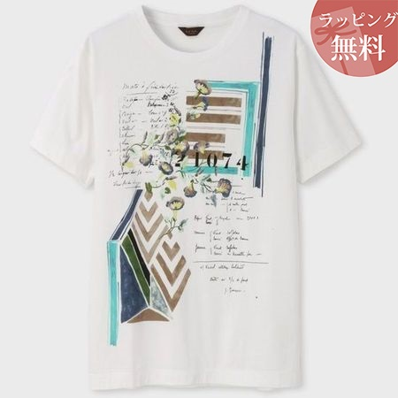 ポールスミス Tシャツ ブライトンコラージュプリント ホワイト S Paul Smith