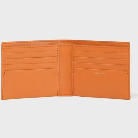 ポールスミス 財布 折財布 レシートストーリー 2つ折り財布 オレンジ Paul Smith ポール スミスMVUzqpGS