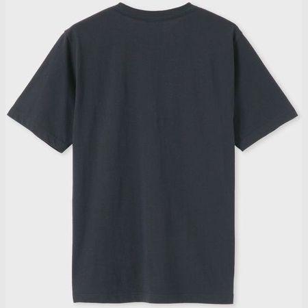 ポールスミス Tシャツ Drawn by Paul Apple&Arrow プリント ネイビー M Paul Smith