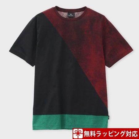 ポールスミス Tシャツ メンズ African Flag プリント ブラック M Paul Smith