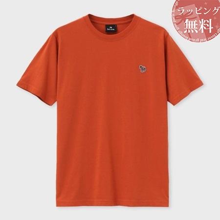 ポールスミス Tシャツ メンズ Sports Stripe Zebra ワンポイント オレンジ M Paul Smith ポール スミス