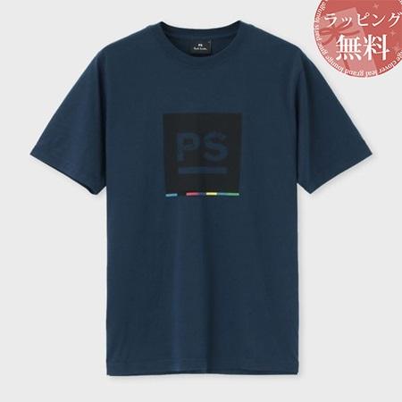 ポールスミス Tシャツ メンズ PS ビッグロゴ プリント ブルー S Paul Smith ポール スミス