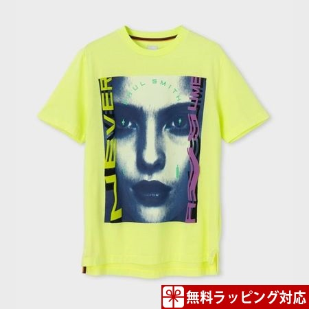 ポールスミス Tシャツ メンズ フォトグラフィック プリント イエロー XL Paul Smith ポール スミス