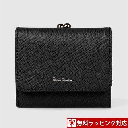 ポールスミス 財布 折財布 レディース スミシーハート 3つ折り財布 ブラック Paul Smith