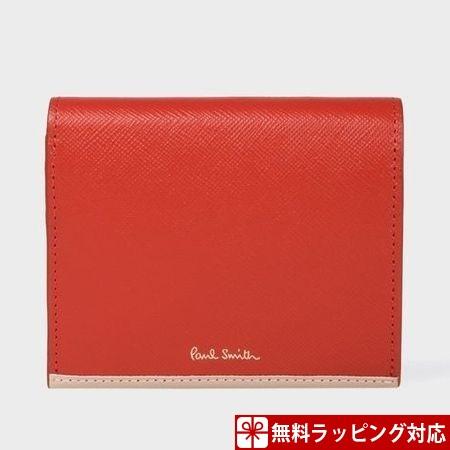 ポールスミス 財布 折財布 レディース サフィアーノ 2つ折り財布 レッド Paul Smith