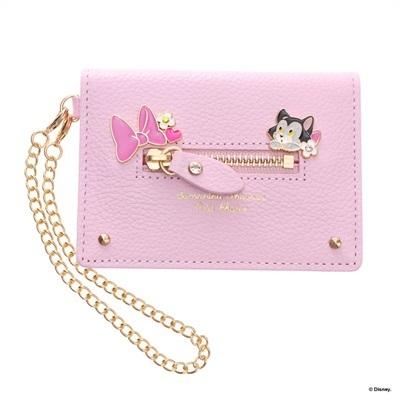 サマンサタバサプチチョイス ディズニーコレクション ミニー&フィガロ パスケース ピンク