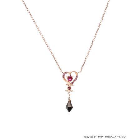 サマンサティアラ ネックレス 美少女戦士セーラームーン コレクション ブラック・レディ ネックレス SV ピンク Samantha Tiara