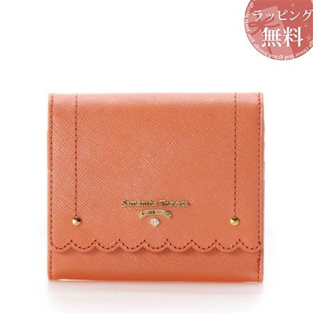 サマンサタバサ 財布 折財布 スカラップシリーズ 3つ折り財布 オレンジ SamanthaThavasaPetitChoice