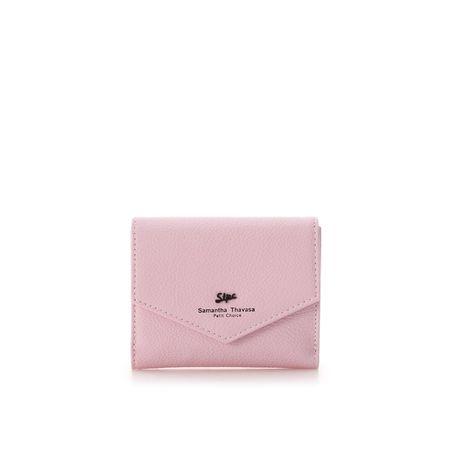 サマンサタバサ 折財布 シグネ 2つ折りかぶせ財布 ピンク SamanthaThavasaPetitChoice