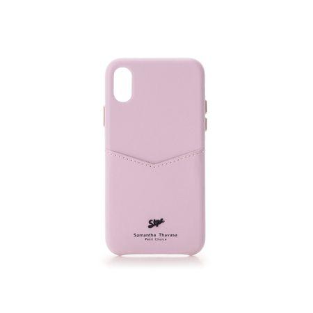 サマンサタバサ モバイルケース 黒メッキロゴ金具iphoneケース X-Xs ラベンダー SamanthaThavasaPetitChoice
