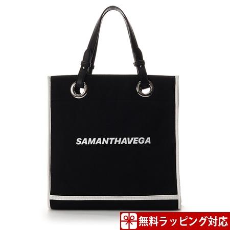 サマンサタバサ バッグ トートバッグ 藤井夏恋ディレクションライン Canvas Tote ブラック Samantha Vega