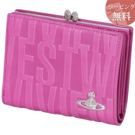 ヴィヴィアンウエストウッド 財布 折財布 二つ折り 口金 がま口 レディース ブライダルボックス ピンク Vivienne Westwood ヴィヴィアン ウエストウッド