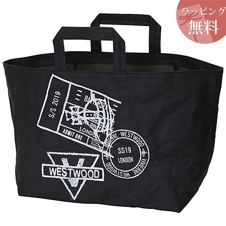 ヴィヴィアンウエストウッド バッグ トートバッグ L レディース スタンプ ブラック Vivienne Westwood