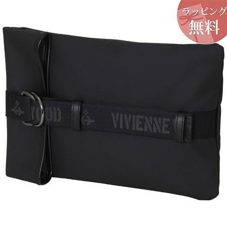 ヴィヴィアンウエストウッド バッグ クラッチバッグ メンズ ロゴベルト ブラック Vivienne Westwood