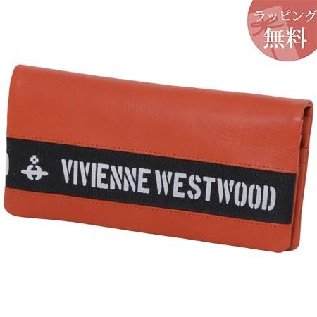 ヴィヴィアンウエストウッド 財布 長財布 メンズ ロゴベルト オレンジ Vivienne Westwood