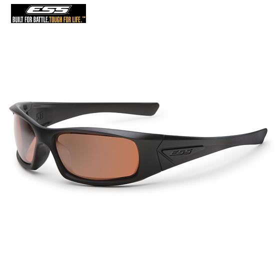 ESS サングラス 5B ファイブビー ブラック/ミラーカッパー UVカット バイク ツーリングオークリーのミリタリー部門