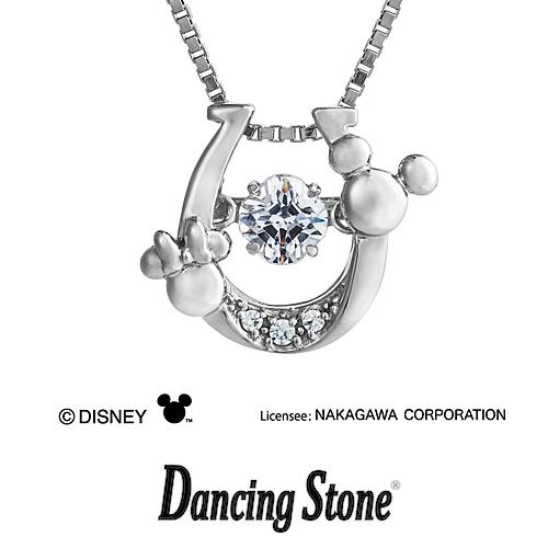 ひるおびで紹介されました! プレゼント クロスフォーニューヨーク Crossfor NewYork ネックレス Dancing Stone ダンシングストーン Disney Series ディズニーシリーズ ミッキー Mickey Horseshoe 【NDP-002】【送料無料】