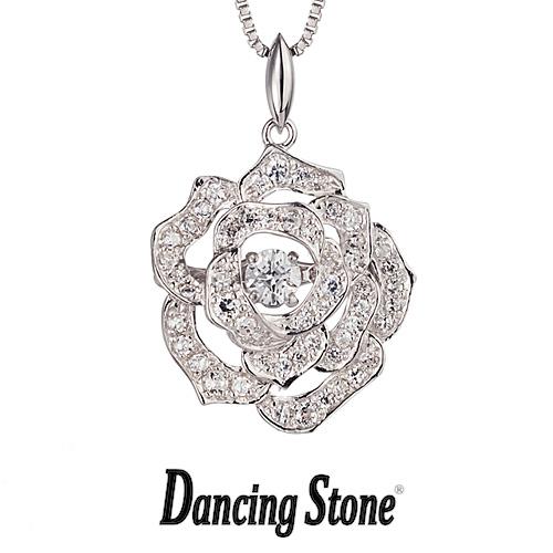 クロスフォーニューヨーク Crossfor NewYork ネックレス Dancing Stone ダンシングストーン 人気デザインシリーズ Twinkle Rose ローズ バラ 薔薇 【NYP-526】【送料無料】