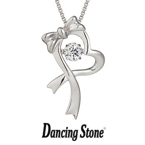 クロスフォーニューヨーク Crossfor NewYork ネックレス Dancing Stone ダンシングストーンシリーズ 人気デザインシリーズ Dancing Gift heart リボン ハート 【NYP-538】【送料無料】