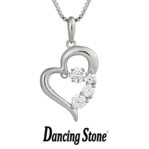 プレゼント クロスフォーニューヨーク Crossfor NewYork ネックレス Dancing Stone ダンシングストーンシリーズ 人気デザインシリーズ D-3stone Heart 【NYP-585】【送料無料】