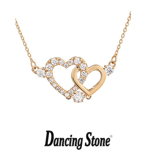 クロスフォーニューヨーク Crossfor NewYork ネックレス Dancing Stone ダンシングストーンシリーズ 人気デザインシリーズ Pure Heart 【NYP-598Y】【送料無料】