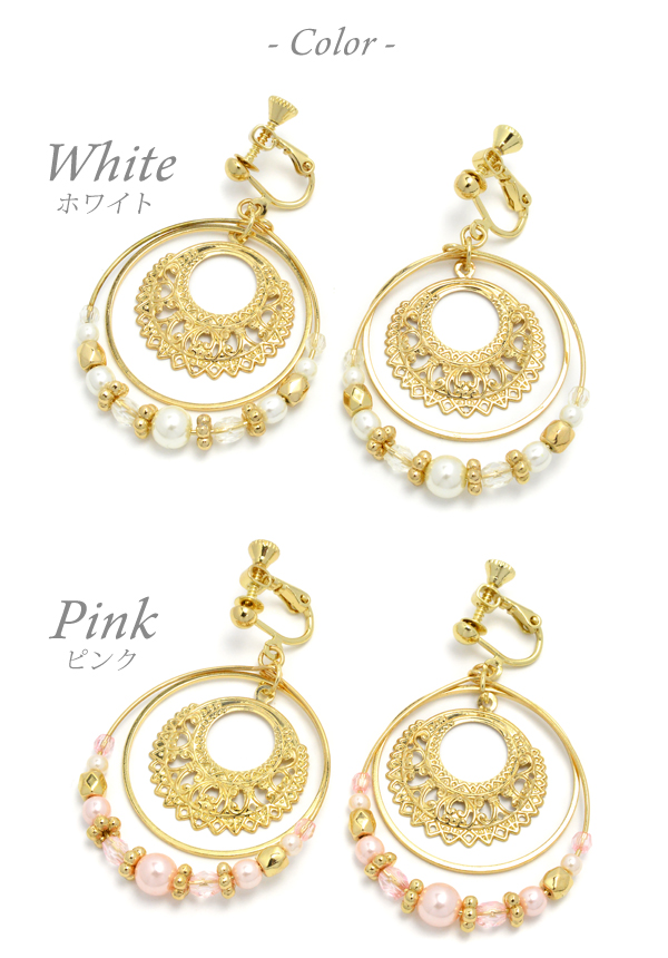 8a5f65b47 ... Oriental circle earrings | Cute like a cheap imitation non Hall pierced earrings  earrings piercing wind ...