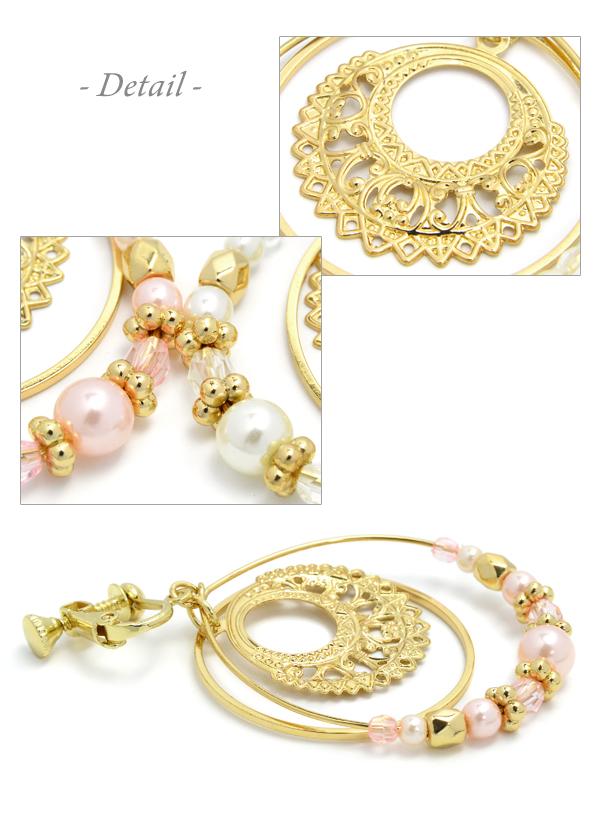 36f020831 ... Oriental circle earrings | Cute like a cheap imitation non Hall pierced earrings  earrings piercing wind
