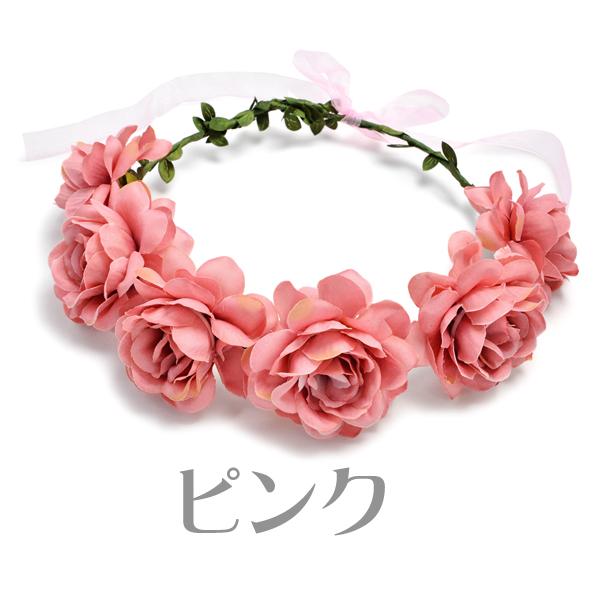 It is only flower crown corolla artificial flower flower tiara Rose flower hair accessories wedding ceremony ヘアアクセヘッドアクセ 1,000 yen