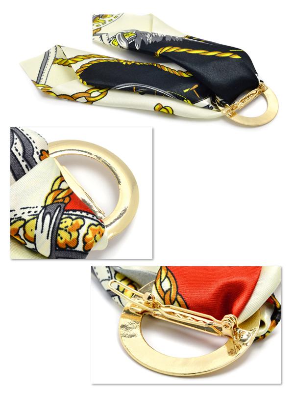 Barrette scarf pattern hair accessories ribbon りぼん dowel pin
