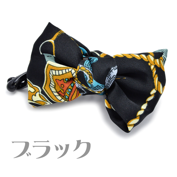 Banana Krips calf pattern hair accessories ribbon りぼん ivory black