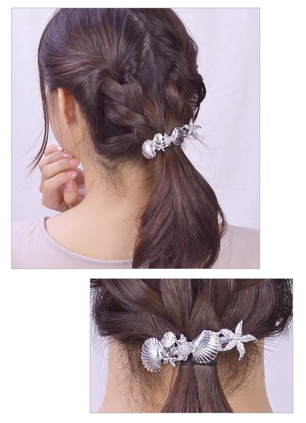 Valletta hair accessories metal starfish shell shell star fish sea モチーフゴールドシルバーサマーアクセ