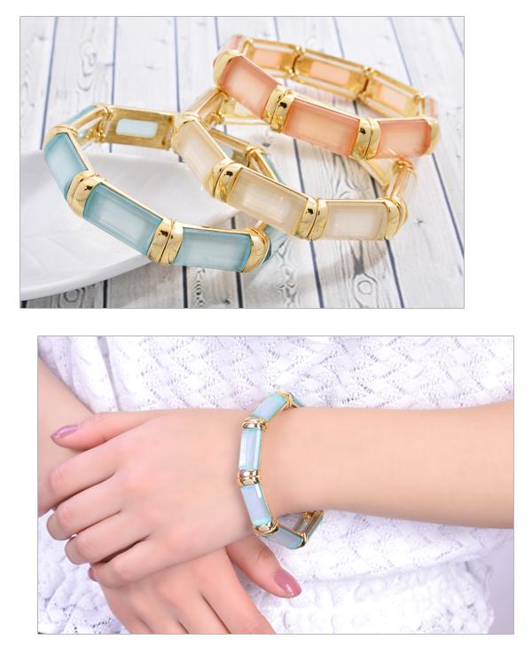 Bracelet Lady's breath bangle rubber Luxury's color pink beige khaki