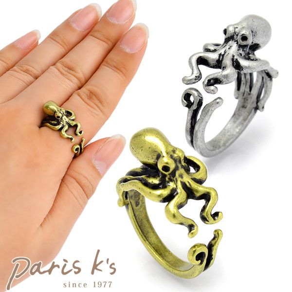 Octopus ring ring animal animal with the antique collar roll