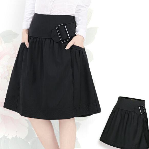 在庫セール 上質素材 ギャザースカート タックスカート 高級な ブラック 返品交換不可 S~4Lまで フレアスカート大きいサイズ有り