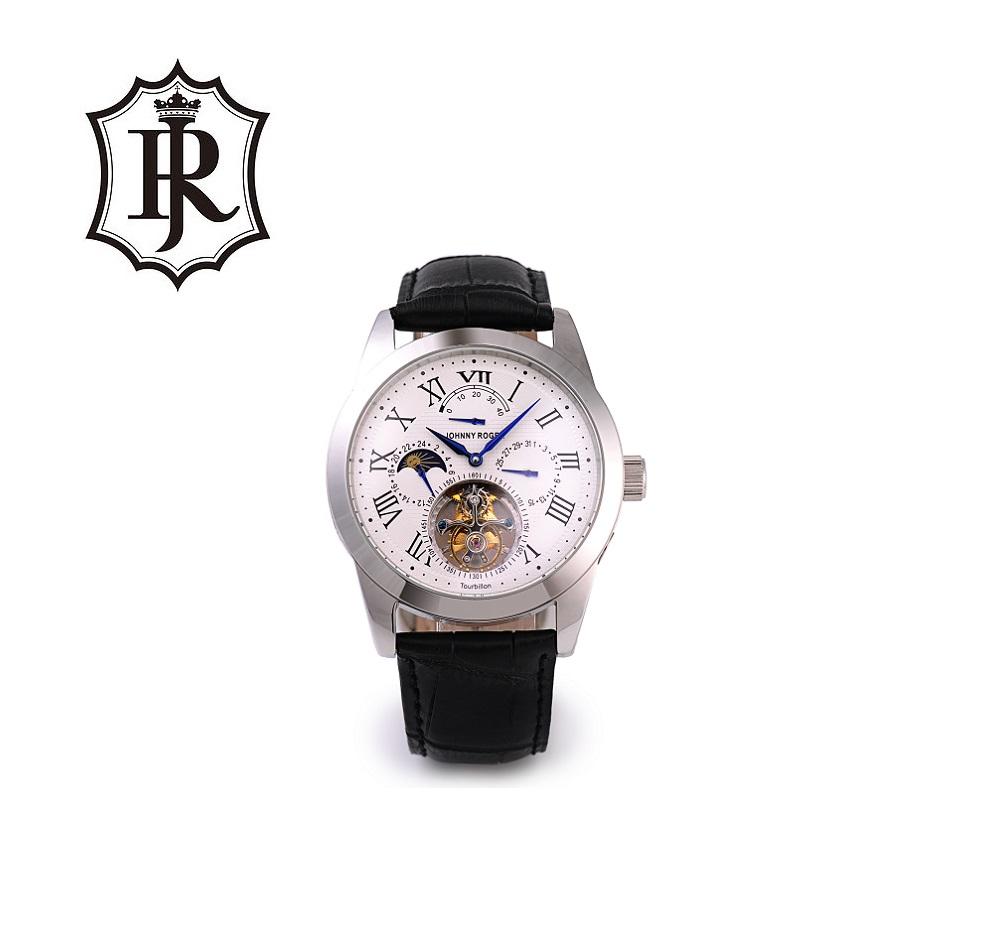 送料無料 3年間保証 本物保証 腕時計の最高峰 フライングトゥールビヨン JOHNNYROGER パワーリザーブ カレンダー 本格 機械式 手巻き メンズ 腕時計 Roi
