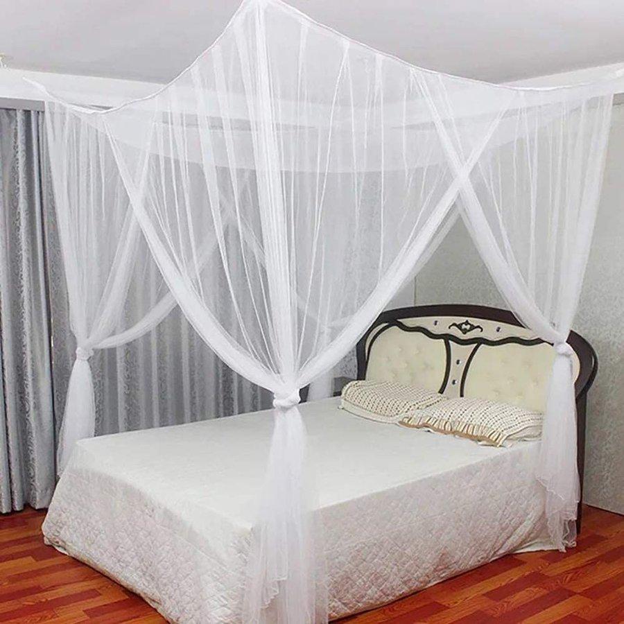 蚊帳 美しいデザイン 四つ入口 かや ベッドテント 70%OFFアウトレット アップグレード美しいデザイン 昆虫を防ぐ 大人用赤ちゃん用 210 6畳 ホワイト ダブル NEW 240cm 吊り下げ用 190