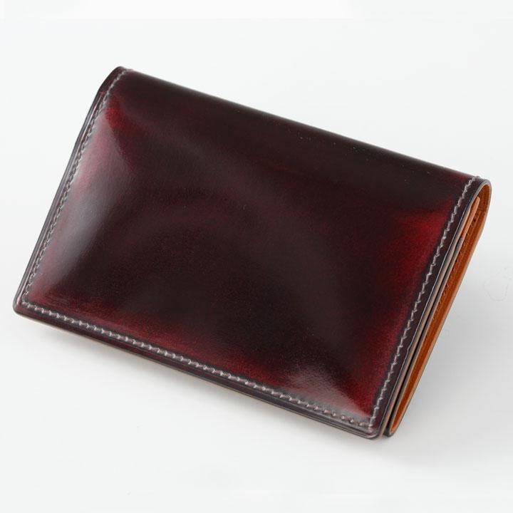 ◆名刺入れ◆製品にしてから職人が手磨きでグラデーションを!革工房パーリィー直販 メイドインジャパン メンズ 革小物 カードケース