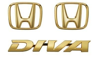 Honda(ホンダ)純正 エンブレム(ゴールド)(DIVA全タイプ用)(Hマーク2個+DIVAエンブレム) 08F20-SZH-001H/LIFE ライフ JC1 JC2