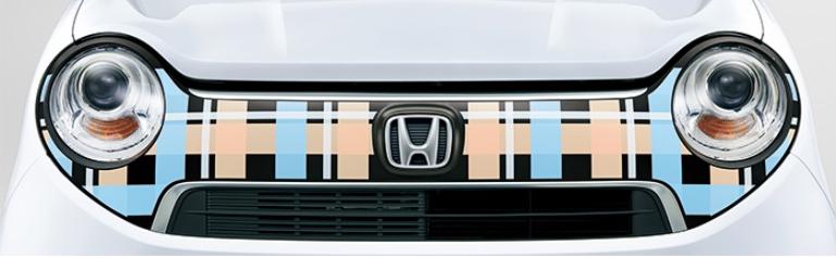 Honda ホンダ 純正 デカール フロントグリル (ガーリッシュチェック)08F31-T4G-B00B  N ONE N-ONE エヌワン JG1 JG2