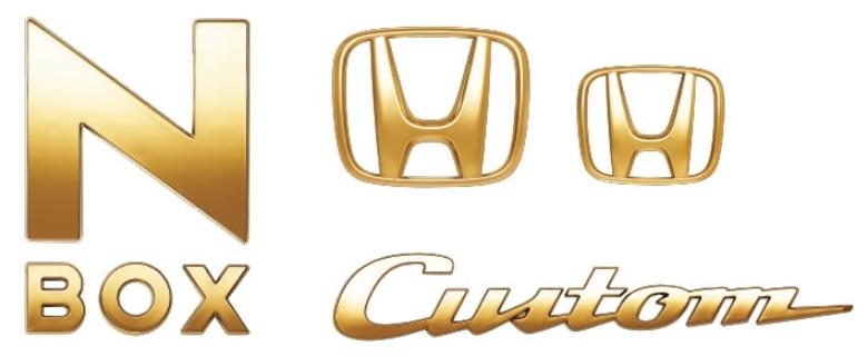 HONDA(ホンダ) 純正 ゴールドエンブレム 08F20-TTA-000A /N-BOX CUSTOM Nボックスカスタム/N-BOX CUSTOM SLOPE Nボックスカスタムスロープ