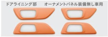 Honda ホンダ 純正 インテリアパネル ドアライニング部 アプリコット 08Z03-E3E-BA0B N-WGN エヌワゴン/Nワゴンカスタム JH1 JH2