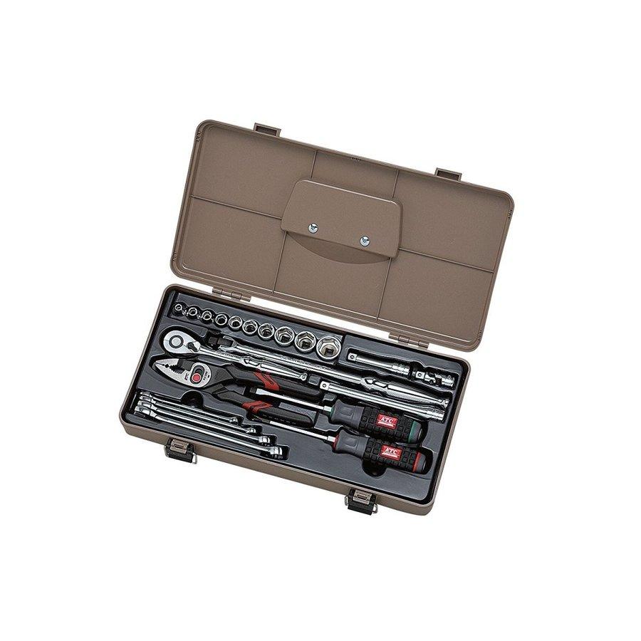 KTC(京都機械工具) 工具セット(片開きケースタイプ) SK322P